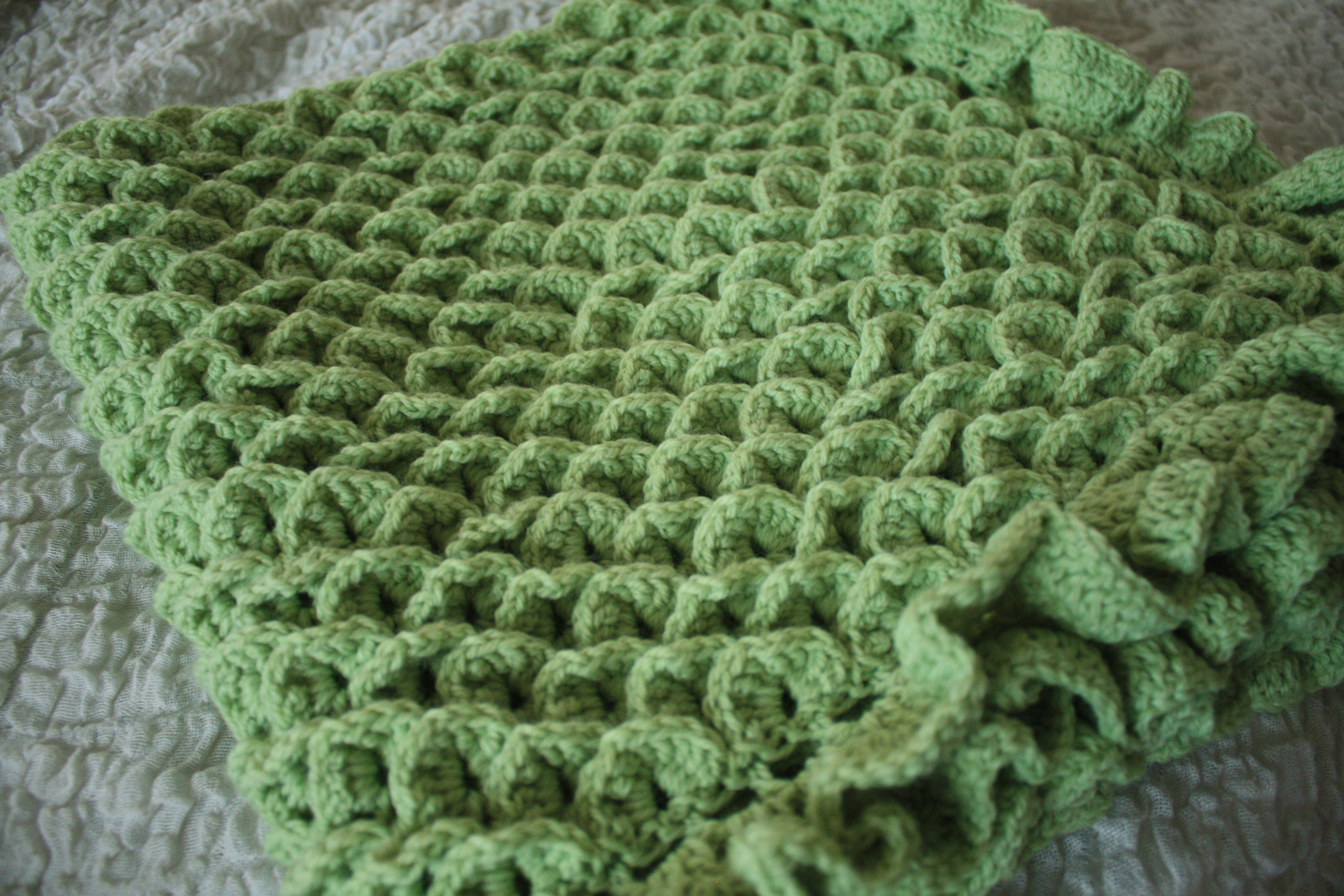 Free Crochet Pattern For Crocodile Stitch Baby Blanket ~ Dancox for .
